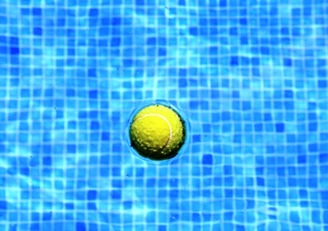 add tennis ball to pool skimmer