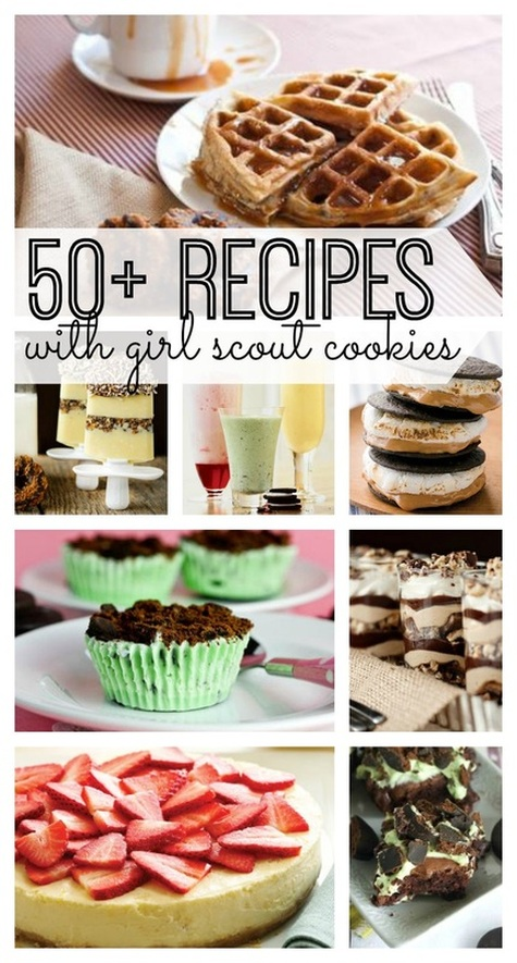 50 plue recipes with girl guide cookies